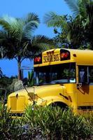 grande scuolabus dell'isola foto
