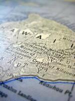 antica mappa hawaii foto