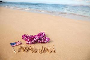 spiaggia delle Hawaii foto