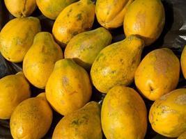sfondo di papaia matura foto