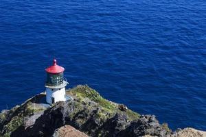 Faro di Makapuu sull'isola di Ohau in Hawaii foto