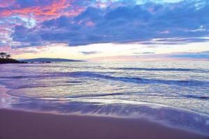 tramonto della spiaggia dello stato di Wailea
