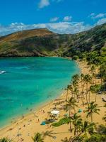 spiaggia della baia di kahana foto