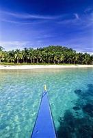 filippine, provincia di surigao del norte, isola di siargao, barca locale. foto