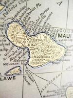 antica mappa maui foto
