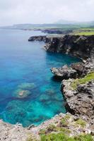 Cape Umahana nell'isola di yonaguni, Okinawa in Giappone foto