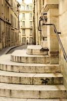 strade di pietra di Parigi foto