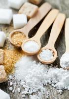 assortimento di zucchero foto
