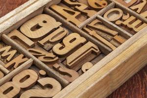 tipo di legno tipografia astratto