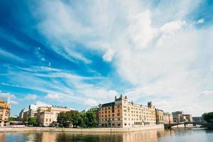 terrapieno a Stoccolma al giorno d'estate, Svezia foto