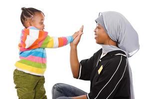 famiglia musulmana foto