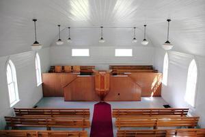 storica chiesa con cornice in legno foto