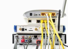 hub di rete del modem router foto