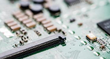 circuito stampato (ripresa ravvicinata) foto