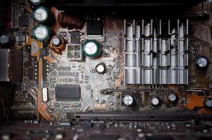 sfondo di vecchi circuiti elettronici foto