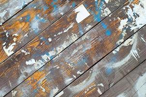 sfondo scrivania in legno foto