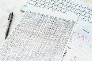 concetto di business, scrivania in ufficio foto