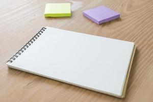 scrivania mock up modello foto