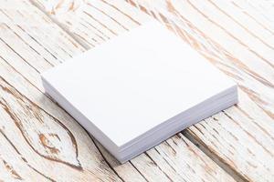 carta bianca vuota foto
