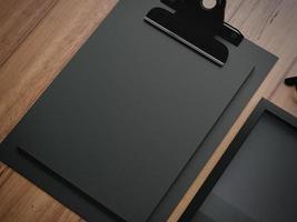 set di due elementi classici di business in bianco. Rendering 3D foto