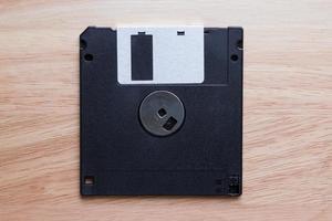 floppy disk su legno foto