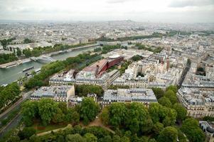 panorama aereo di Parigi foto