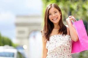 donna dello shopping di Parigi foto