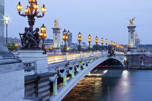 parigi, pont alexandre iii foto