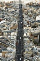 vista sulla strada di Parigi foto