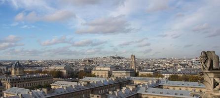 vista di Parigi dall'alto di Notre Dame foto