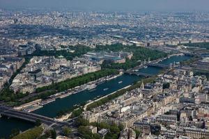 vista aerea di Parigi foto