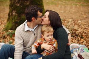 famiglia di tre persone foto