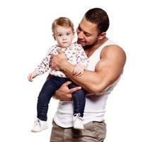 padre con figlia adorabile foto