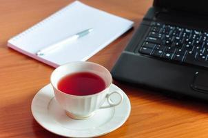 pausa tè in ufficio foto