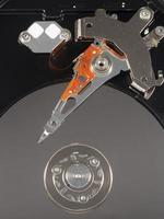 disco rigido isolato foto