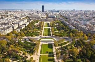 campo di Marte. vista dall'alto. Parigi. Francia foto