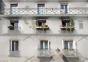 costruzione di facciata a Parigi foto