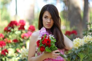 ritratto floreale