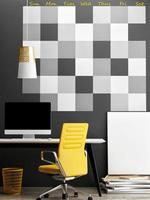 mock up ufficio, sfondo calendario da parete