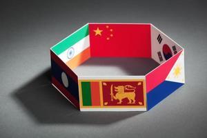 primo piano del vertice del gruppo apta di accordo commerciale Asia-Pacifico foto