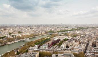 veduta aerea di parigi foto