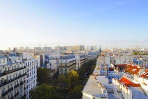 skyline di parigi con tetti foto