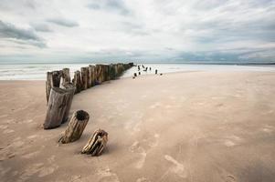 la spiaggia è sconvolta foto