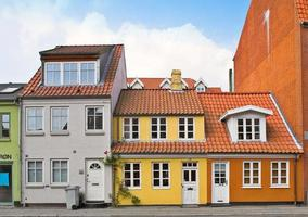 vecchie case di città foto