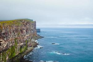 mantello latrabjarg, vestfirdir, islanda, bordo del mondo