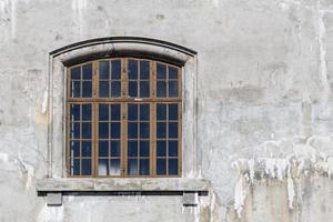 vecchia finestra di vetro foto