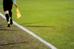 assistente arbitro in azione foto
