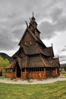 gol, chiesa di legno in Norvegia foto