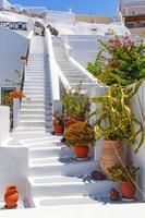 dettagli di architettura bianca dell'isola di santorini foto