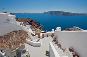 vista della caldera da oia a santorini, grecia foto